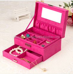 High Quality Luxury Custom logo fashion Jewelry Case with window /Paper Jewelry case Made In China