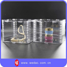 100% transparent shining acrylic jewelry display stand