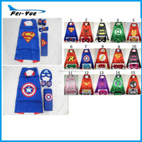 kids superhero capes Halloween blue red super hero cape and mask Superman batman Cosplay Party Children costumes 50 set