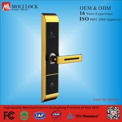hotel keyless door lock, smart card door lock, hotel room card lock system