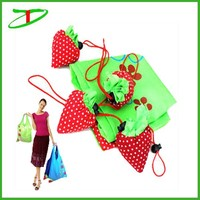 2015 new products promo bag strawberry tote bag, reusable folding shopping bag