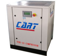 15HP 11kW mini variable frequency belt driven screw air compressor