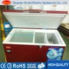 Wine red color chest Freezer with CB,CE 100~600L