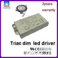 Factory sells 24w Triac Dimmable 350mA 60v Led driver power supply for down light