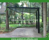 Solid and stylish modern free standing aluminum carport