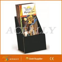 Black Carboard Flyer Display Pocket