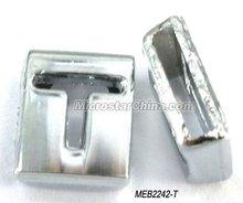 """8mm Cheapest """"T"""" alphabet slider charms for bracelet"""