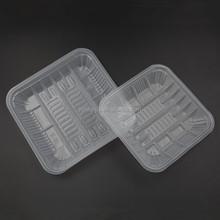 14X 14 CM plastic vegetable storage tray for vegetable/fruit/meat fozen