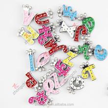 Bracelet Diy Slide Charms Colour Letter Slide Charms High Quality Rhinestone Slide Bracelet Letters