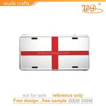 Manufacturer Price Custom England Flag Metal Advertising Plate