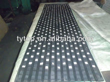 Anti de goma antideslizante de cerámica rezagado hoja
