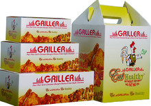 take away paper fried chicken box