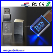 4G 8G 16G 32G 64G Crystal USB Flash Drive Pen Memory With Logo in Crystal