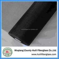 exporter and manufacturer 18*16 black plain weave fiberglass window screen
