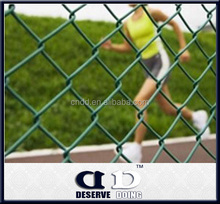 New products China Supplier galvanized /pvc Plastic chain link fence for sale