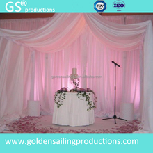 Brand new wedding pipe and drape , chiffon drape for decoration