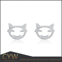 Hallowmas demon smile earring cartoon jewellery stud earring