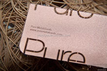 Customized classical metal business cards in silver finish