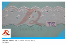 Hot sale single side Cotton eyelet Lace Trimming