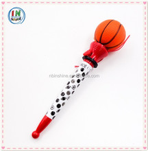 Sport ball shaped toy ball pen , plastic jumping ball pen