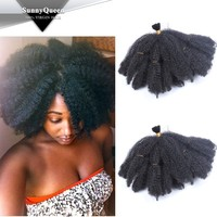 Sunny Queen Afro kinky curly synthetic hair braids, synthetic hair for black women