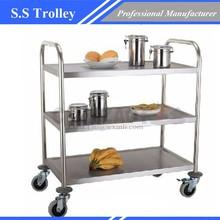 Brand New Utility Trolley 3 Shelf Stainless Steel Kitchen Restaurant Dining Cart