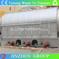 5/8/10/12tons per day pyrolysis plant to get crude oil from scrap plastic with CE&ISO