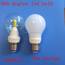 China factory dimmable 3w/5w/7/10w E27 E14 B22 new led bulb light ceramic 360 degree led lighting bulb