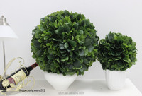Wholesale 40cm artificial topiary grass ball for Indoor window show decorative plastic green leaves bubble balls