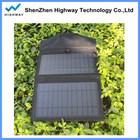 Flexibilidade portale Universal carregador solar bag para smart phone com dual usb