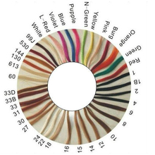 Hot Selling Wholesale Price Human Hair Color Chart, 100% Human Hair Color Ring