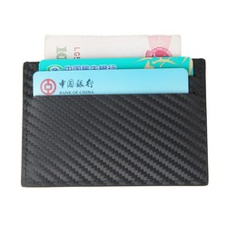 New product luxury fashion carbon optical leather card holder business & ID card holder wallet
