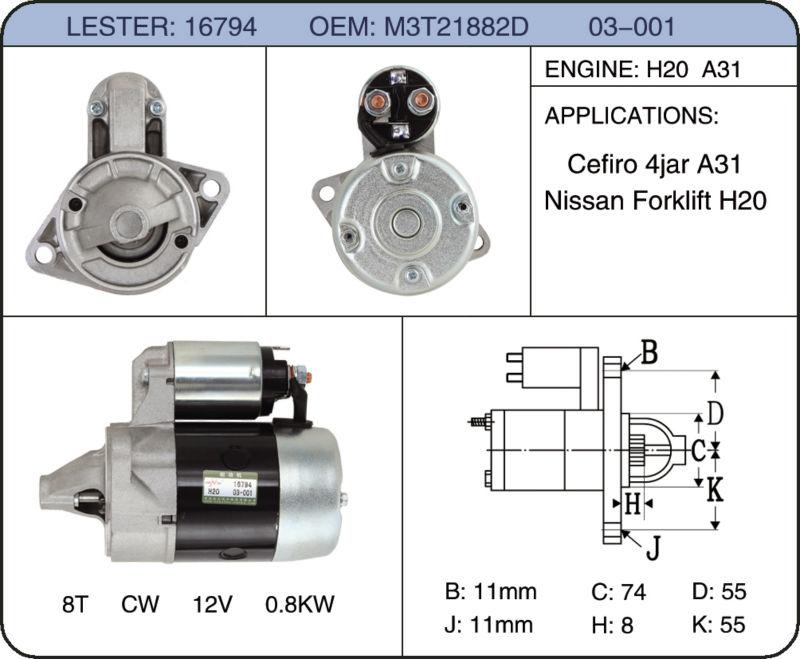 Manufacturer best quality alternator auto starter car starter