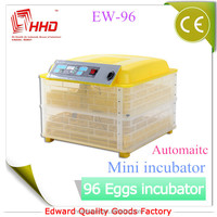 CE approved full automatic best price egg hatcher/gas egg incubator for sale in Europe(EW-96A)