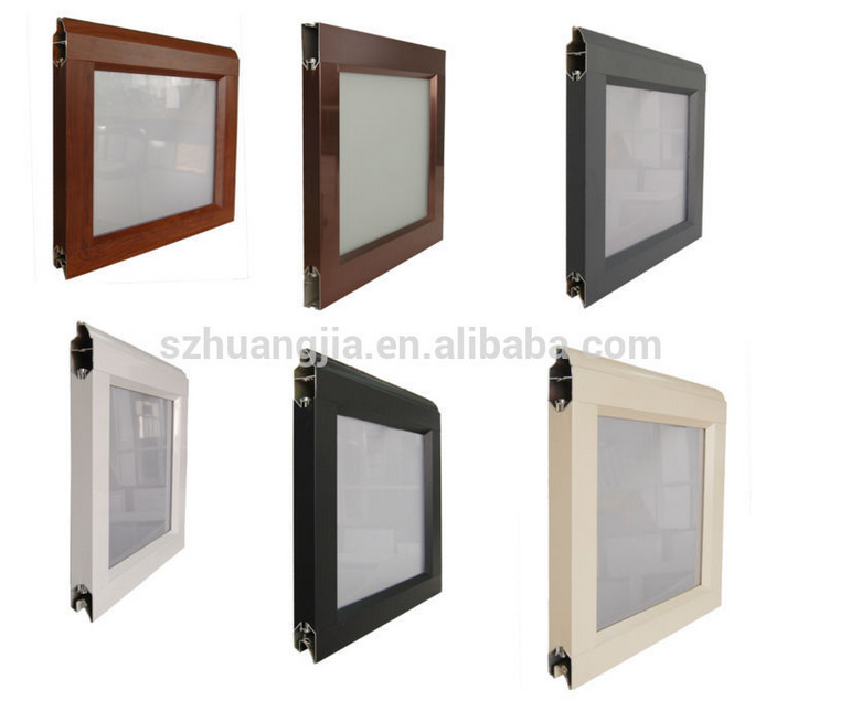 Modern Wooden Frame Tempered Glass Panel Weather Proof Entry Garage ...