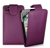 Top Quality Flip PU Leather Case Bag For iphone 4G 5C 5S
