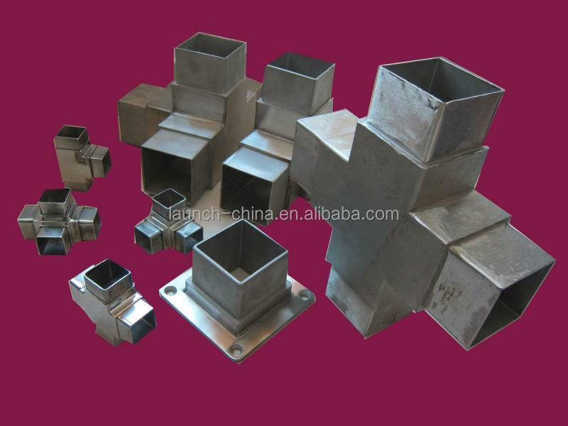 Stainless steel way square tube connectors mm buy