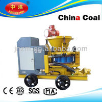 china coal wet mix shotcrete machine for dry and wet building material