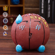 Piggy bank creative gift wholesale Cute fashion fo Savings bank Resin basketball gift set