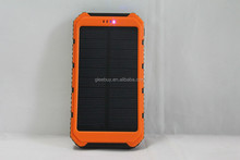 OEM Customized Portable waterproof mobile phone solar charger with lithium-ion battery