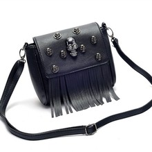 VT595 European fashion latest Skull Heads mini tassels shoulder bags women