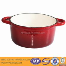 High quality red enamel cast iron cookware/casserole