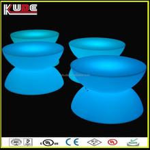 plastic modern design hot sale led table for tea