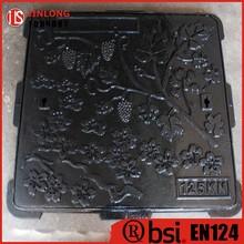 EN124 cast iron garden art manhole covers factory sale