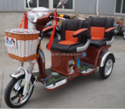 Electric tricycle auto rickshaw with 4 seats