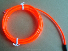 cheap read el wire in 2.3mm with high brightness and long life time with DC3 inverter for party decoration