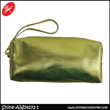 Fashion Golden Cosmetic Bag With Wristlet