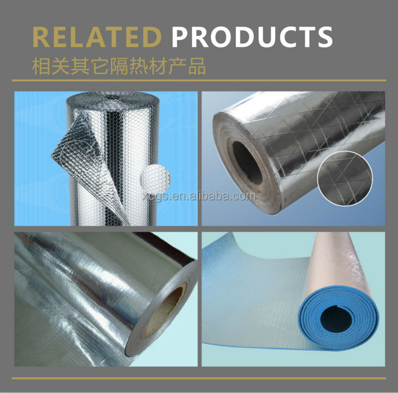 roof insulation materials with woven cloth/roof insulation pure aluminum foil/roof insulation roll