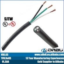 UL flex 3 core SJTW/SJT pvc cable electric cable wholesale maufacture