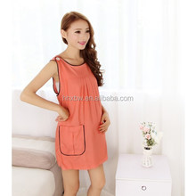 short sleeve prom cotton dress for pregnant woman
